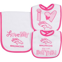 Denver Broncos 3-Piece Bib & Burb Cloth Set, Size: One Size (Den Team)