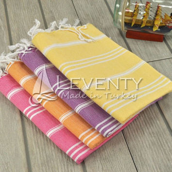 Hand Towels Set of 4 French Kitchen Cloth Bathroom Accessories Dish Towel French Kithcen Hand Face Towel Country Kitchen Linen Washed Pretty