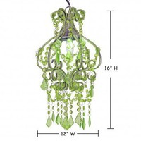 Wake Up Frankie - Petite Salon Chandelier - Green