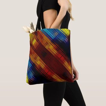 Colorful Cross Diagonal Pattern Tote Bag