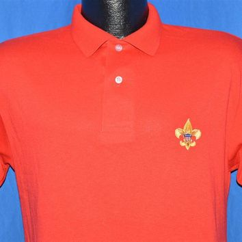 90s Boy Scouts Of America Polo Shirt Small