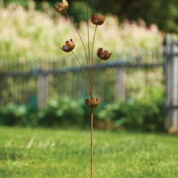 Lily Cup Chimes Garden Stake