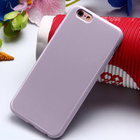 Light Purple Ultra Thin Soft TPU Silicon Candy Color Rubber Gel Phone Back Cover Case For Apple iPhone 5 5s SE 6s 6 Plus 6s Plus