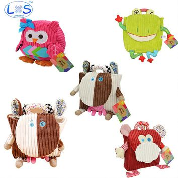(LONSUN)Kawaii Animals Plush Backpack 25cm stuffed & plush Kids Plush Backpack Toys Office supplies Childrens Gifts