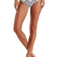 Multi Caged Tribal Print Bikini Bottoms by Charlotte Russe