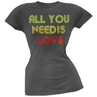 The Beatles - All You Need Flocked Juniors T-Shirt