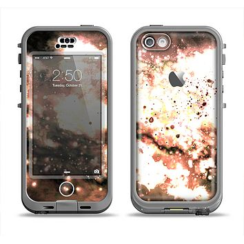 The Bright Gold Cloudy Lights Apple iPhone 5c LifeProof Nuud Case Skin Set