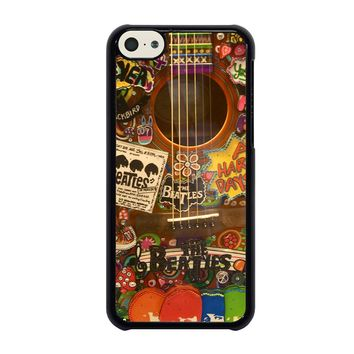 THE BEATLES GUITAR COLLAGE iPhone 5C Case
