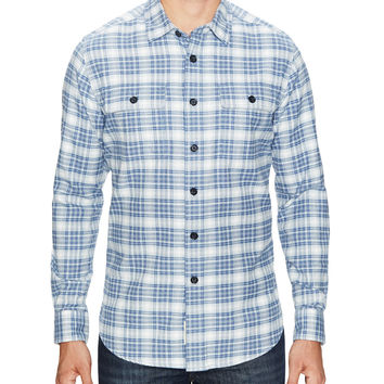 Grayers Men's The Heritage Plaid Flannel Sportshirt - Blue - Size XS