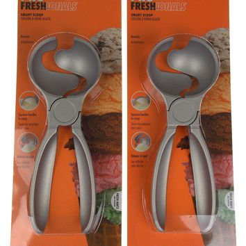 Pro Freshionals Smart Scoop Non Stick Ice Cream Squeeze Release Lot of 2 Metal