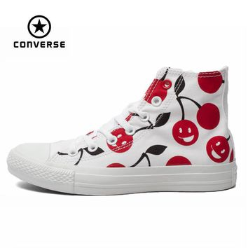 Original Converse all star shoes men sneakers Hand-painted graffiti white canvas shoes