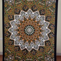 Indian Tapestry Floral Mandala Printed Wall Hanging Hippie Bed Sheet Decor Art