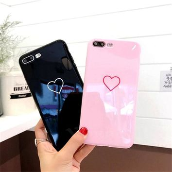 Phone Case For iPhone 6 7 X Case Fashion Couples Back Soft TPU Cover Cases For iPhone 6 6s 7 8 Plus X Case