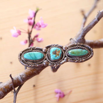 vintage turquoise silver ring, turquoise statement ring, statement jewelry, silver ring, turquoise jewelry, size 9 ring