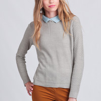 Make The Grade Collared Sweater
