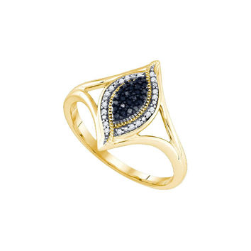 1-10Carat-Diamond MICRO-PAVE BLACK RING