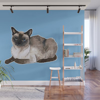 Siamese cat Wall Mural by savousepate