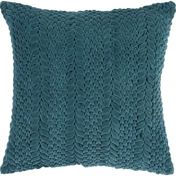Velvet Luxe Throw Pillow Green