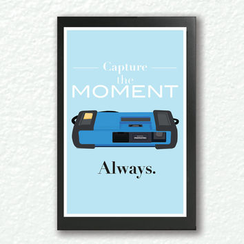 Retro poster, quote print, pop art,inspirational quote, motivational wall art - Geekry, Vintage 1980 Fisher price/kodak camera