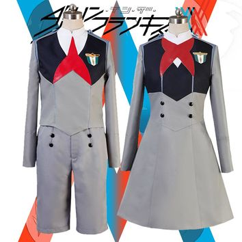 Japanese Anime DARLING In The FRANXX Code 015 Ichago Code016 Hiro Outfit Dress Cosplay Costume Anime Exhibition Custom-made
