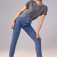 BDG High-Rise Longline Girlfriend Jean – Indigo | Urban Outfitters