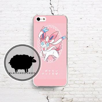 Pokemon X Y SYLVEON Pink Cute Kawaii Polka Dot by blacksheepcase