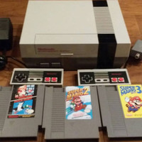 Free Shipping original Nintendo NES system console Mario bros 1 2 3 games 2 controllers NEW 72 PIN + No Red blinking light