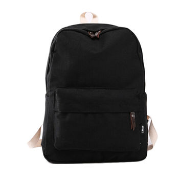 women canvas backpack pretty style daily schoolbag candy color women back pack college teenager schoolbag INY66