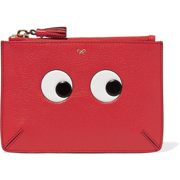 Anya Hindmarch - Loose Pocket embossed textured-leather pouch