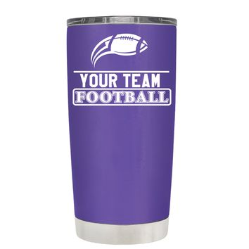 TREK Personalized Football Team on Purple 20 oz Tumbler Cup