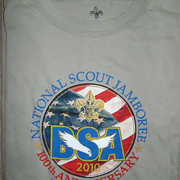 2010 Boy Scout National Jamboree Logo T Shirt BSA NJ Adult Small NEW Licensed