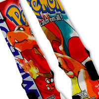 Pokemon Red Custom Nike Elite Socks Charizard