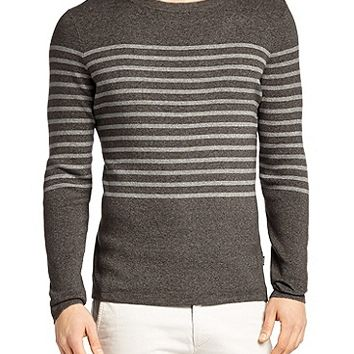 'Lagoni' | Slim Fit, Cotton Striped Sweater by BOSS