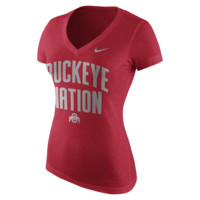 Nike College Tri-Blend Mid V Authentic Local (Ohio State) Women's T-Shirt