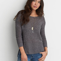 AEO MARL PULLOVER SWEATER