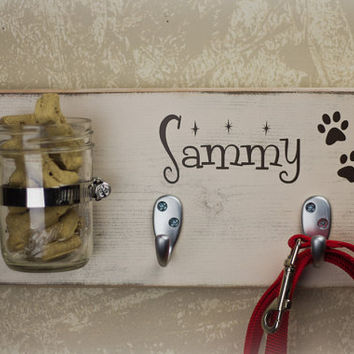 Primitive Shabby Chic Wood Key Holder/DOG by OBannonCreekCrafts