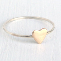 Tiny Heart Stacking Ring 14k Gold Filled Heart