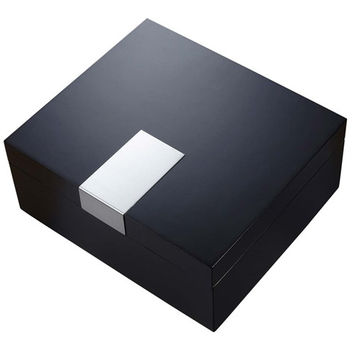 Visol Marcus Black Matte Cigar Humidor - Holds 50 Cigars
