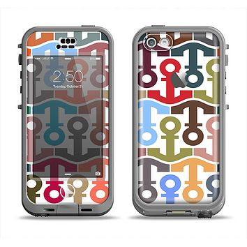 The Color Vector Anchor Collage Apple iPhone 5c LifeProof Nuud Case Skin Set