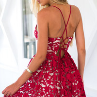 DELICATE HEARTS DRESS (RED)