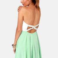 Always and Forever Ivory and Mint Lace Dress