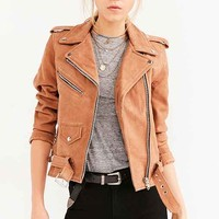 US By Understated Leather for UO Lace-Up Floral Panel Jacket
