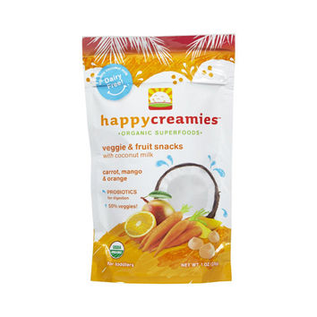 Happy Creamies Organic Snacks - Carrot Mango Orange - 1 oz - Case of 8