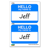 Jeff Hello My Name Is - Sheet of 2 Stickers