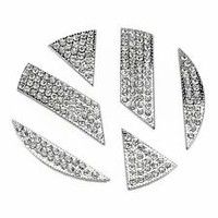 Diamond Bling Rhinestone Front Emblem Sticker Emblem Badge For VW Beetle