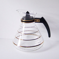 David Douglas Glass Coffee or Tea Carafe / Flameproof / 8 cup
