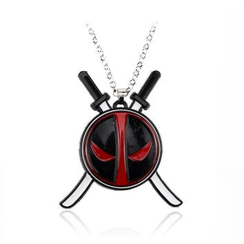 Deadpool Dead pool Taco MS Jewelry  Choker Women Necklaces Pendantss Men Gift Movie Anime Accessories Men Jewelry Gift AT_70_6