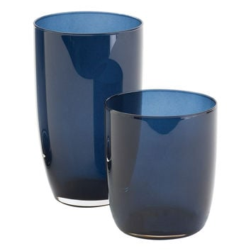 Barbara Barry Solstice Glassware Midnight Blue Set of 4