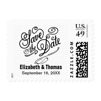 Personalize this Save the Date Postage Stamp