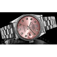 Rolex Trending Women Men Chic Pink Quartz Watch Wrist Watch